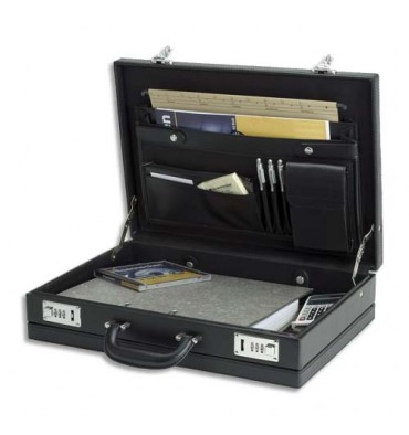 JUSCHA Attaché case en PVC noir