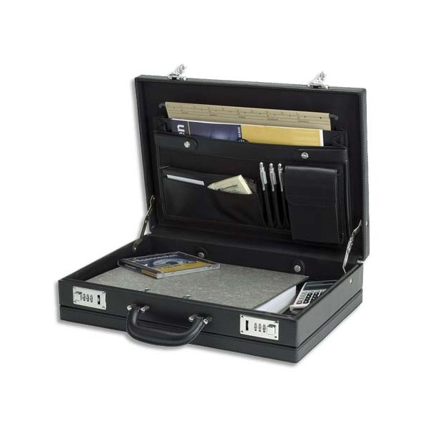 ALASSIO Attaché case en PVC noir (photo)