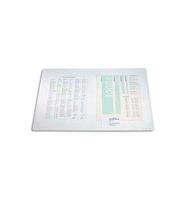 DURABLE Sous main Duraglas transparent 42 x 30 cm