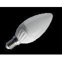 ADES Carton de 10 ampoules LED Flamme dépolie 4W E14
