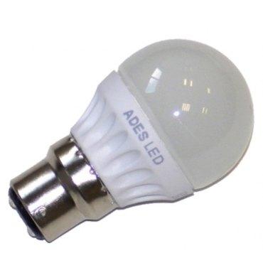 ADES Carton de 10 ampoules LED Sphérique dépolie 4W B22