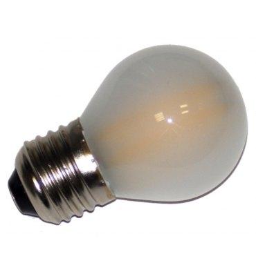 ADES Carton de 10 ampoules LED Sphérique COG dépolie 4W E27