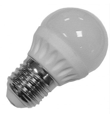 ADES Carton de 10 ampoules LED Sphérique dépolie 4W E27