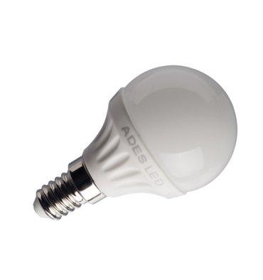 ADES Carton de 10 ampoules LED Sphérique dépolie 4W E14