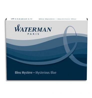 WATERMAN Etui de 6 mini cartouches encre bleu sérénité