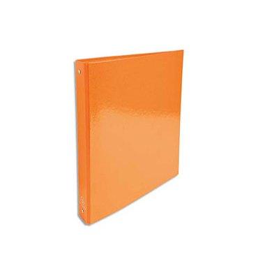 EXACOMPTA Classeur A4 4 anneaux de 30 mm Iderama dos 4 cm coloris orange