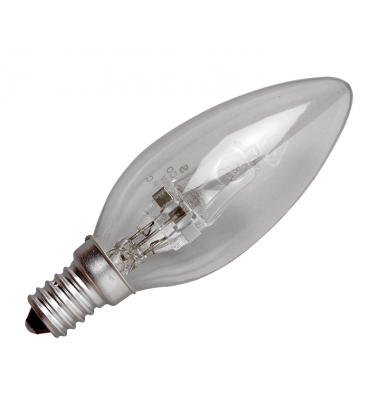 ADES Carton de 10 ampoules Halogène Flamme 28W B22
