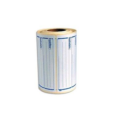 AVERY Rouleau de 500 étiquettes pré imprimées Expéditeur/Déstinataire. Format : 125 x 65 mm