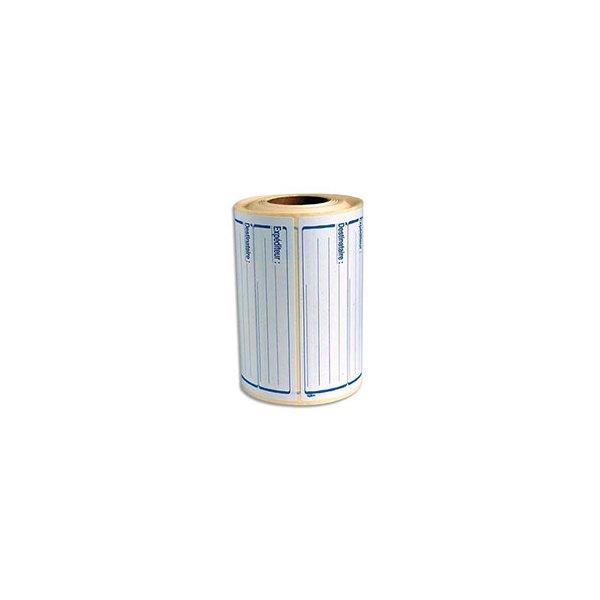 AVERY Rouleau de 500 étiquettes pré imprimées Expéditeur/Déstinataire. Format : 125 x 65 mm (photo)
