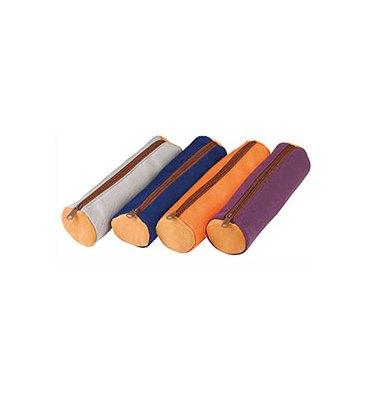 ELBA Fourre-tout rond bicolore 22 x 6 x 6 cm - cuir canvas assortis