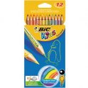 BIC KIDS Etui 12 crayons de couleur TROPICOLOR2 (version sans bois). Coloris assortis