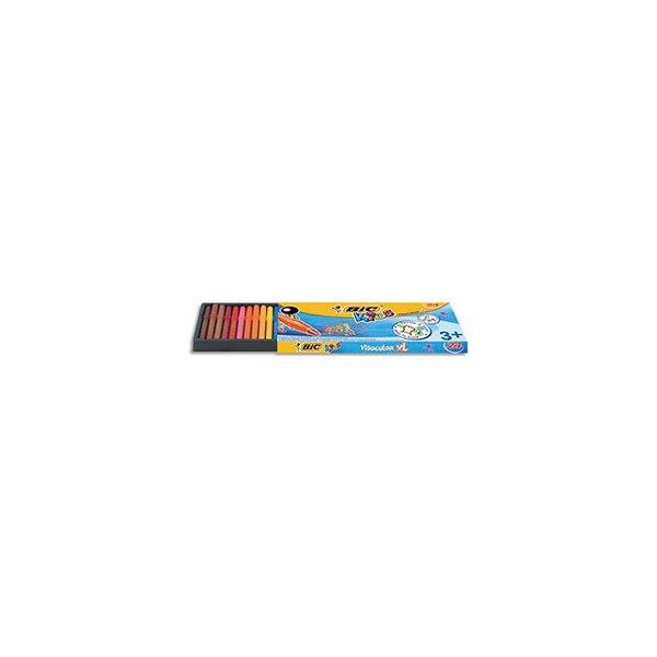 BIC KIDS Pochette 24 feutres de coloriage VISACOLOR. Pointe extra-large. Coloris assortis (photo)