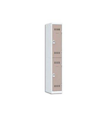 VINCO Vestiaire 2 Cases + 1 Colonne - Dimensions : 30 x 180 x 50 cm gris perle basalte