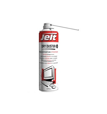 CHUBB JELT Aérosol dépoussiérant gaz sec DRY DUSTER inflammable 650 ml brut–500ml net, poids Net 275g 00