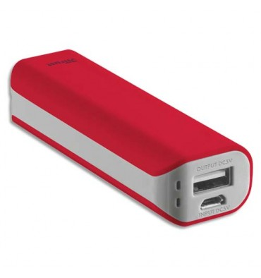 TRUST URBAN Chargeur Primo 2200 mAh rouge