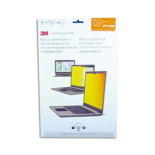 3M Filtre de confidentialité or pour ordinateur portable 13,3'' (photo)