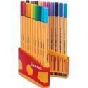 STABILO ColorParade de 20 stylos feutre Point 88. Coloris assortis