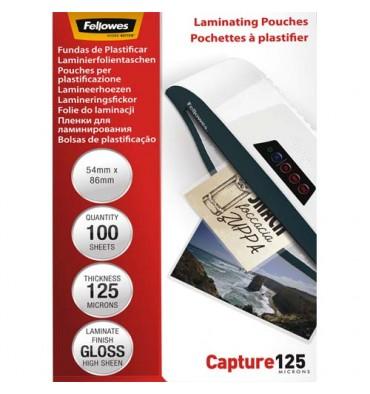 FELLOWES Pack de 100 pochettes Imagelast 125 microns carte de visite, 54 x 86 mm