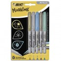 BIC Blister de 5 marking color. Assorti de couleurs métalliques