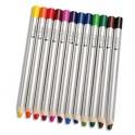 ART PLUS Boîte 12 crayons couleurs gros module pour ardoises et tableau effaçables à sec 180 x 12 mm, mine 8 mm