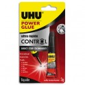 UHU POWER GLUE liquide tube 3g CONTROL