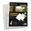 SECO Sachet de 100 pochettes perforées en polypropylène grainé 5/100ème, 100% biodégradable et recyclable