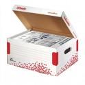 ESSELTE Conteneur SPEEDBOX taille Small pour documents A4 et sous-dossiers, coloris blanc
