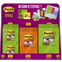 POST-IT Présentoir de 36 Blocs Grands Formats lignés Notes Super sticky