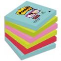 POST-IT Lot de 6 blocs notes Super Sticky Post-it® Collection MIAMI 76 x 76 mm, 90 feuilles