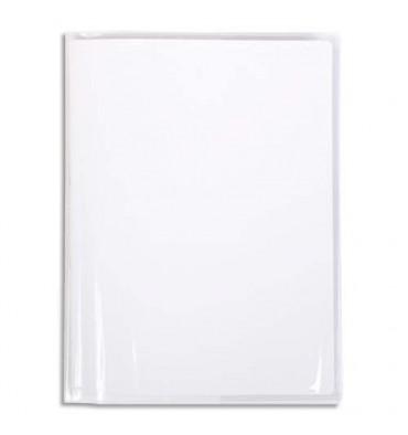 CALLIGRAPHE Protège-cahier PVC cristalux 22/100ème avec porte-étiquette 17 x 22 cm incolore