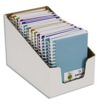 CANSON Carnets de notes 100 pages 120g A6 5 couleurs. Couverture en polypropylène assorties