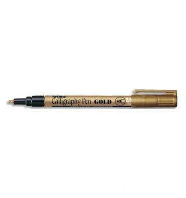 SIGN Stylo calligraphie pointe fibre biseautée 2,5mm. Coloris or
