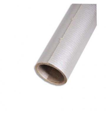 CLAIREFONTAINE Rouleau de papier Kraft couleur argent recto-verso 70g/m* - Dimensions : 0,7 x 3 mètres