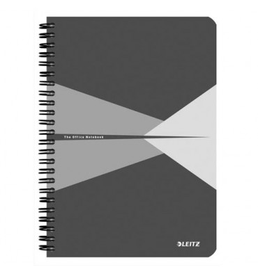 LEITZ Cahier Office 14,8 x 21 cm 180 pages 5x5. Couverture carte grise