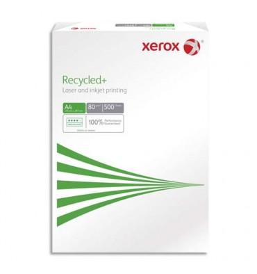 XEROX Ramette de 500 feuilles A4 80g, papier 100% recyclé blanc XEROX Recycled+ CIE 85