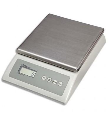 MAUL Balance de comptage Maulcount grise, capacité 10 Kg - Plateau 17 x 17,5 cm, L18 x H6,7 x P25,5 cm