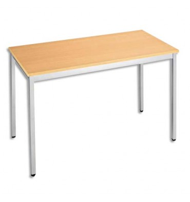 SODEMATUB Table universelle et polyvalente être aluminium - L120 x H74 x P60 cm