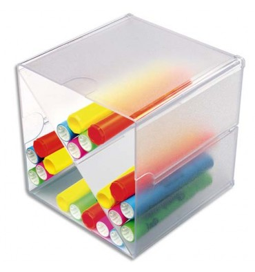 DEFLECTO Système modulable Cube séparation en X, 4 compartiments 15,2 x 15,2 x 15,2 cm