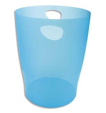 EXACOMPTA Corbeille à papier ECO 15 L turquoise translucide