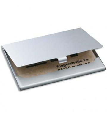 SIGEL Etui à cartes en aluminium, jusqu'à 15 cartes - 9,2 x 0,5 x 6,3 cm