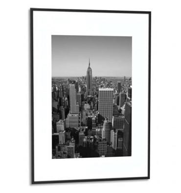 PAPERFLOW Cadre photo contour aluminium coloris noir, plaque en plexiglas. Format 60 x 80 cm