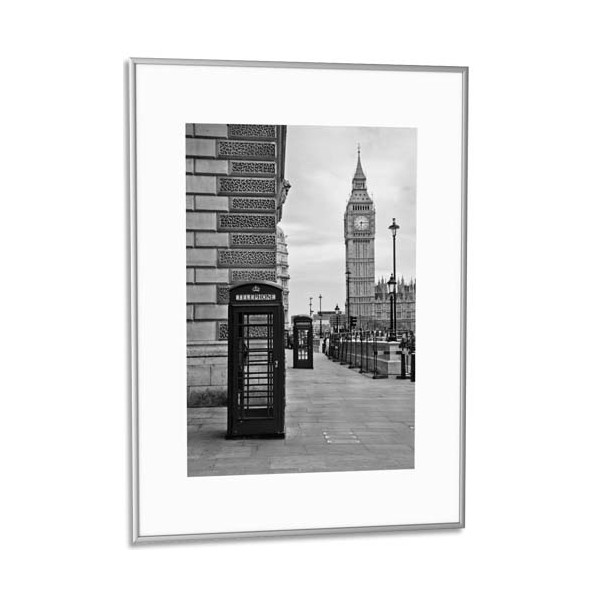 paperflow cadre photo contour aluminium argent plaque en plexiglas 50 x 70 cm. Black Bedroom Furniture Sets. Home Design Ideas