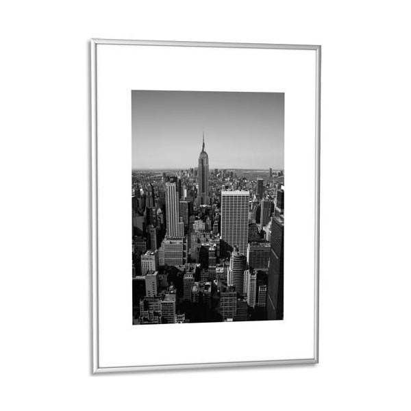 paperflow cadre photo contour aluminium argent plaque en plexiglas 60 x 80 cm. Black Bedroom Furniture Sets. Home Design Ideas