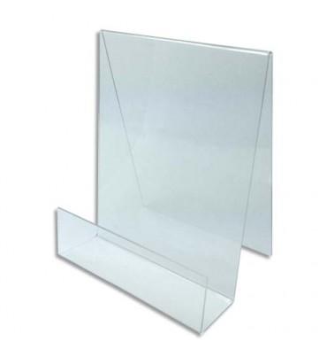 DEFLECTO Chevalet pour documents A4 à poser. En PMMA. Vertical - L19 x H29 x P18 cm