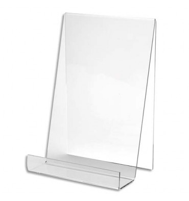 DEFLECTO Chevalet pour documents A5 à poser. En PMMA. Vertical - L19 x H15,1 x P12,5 cm