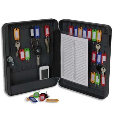 PAVO Armoire à clés à combinaison capacité 54 clés - Dimensions : 24 x 30 x 6 cm coloris gris foncé