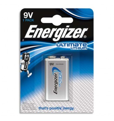 ENERGIZER Blister 1 pile Lithium 9V 6LR61 Ultimate lithium