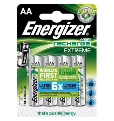 ENERGIZER Blister de 4 piles AA LR6 Extrem recheargeable 2300 mAh