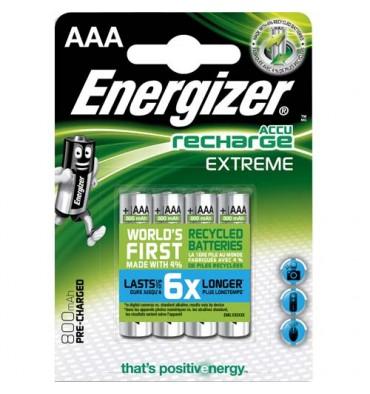 ENERGIZER Blister de 4 piles AAA LR03 Extrem recheargeable 800 mAh