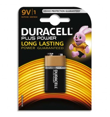 DURACELL Blister de 1 Pile Alcaline 9V 6LR61 Plus Power